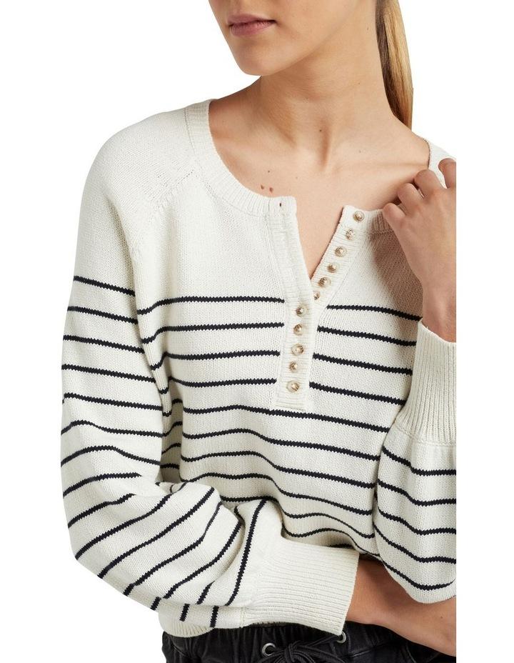 Stripe Button Through Knit image 4