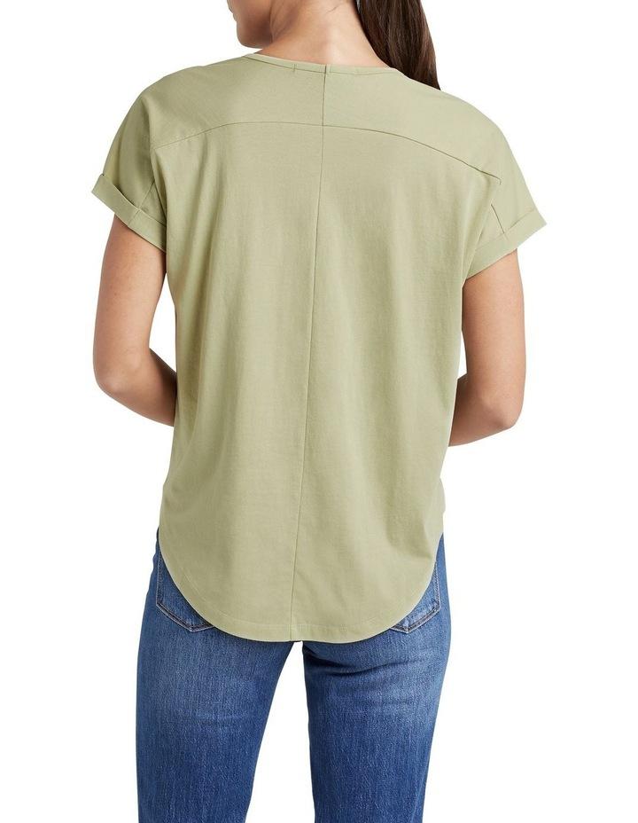 Organic Dipped Hem T Shirt image 2
