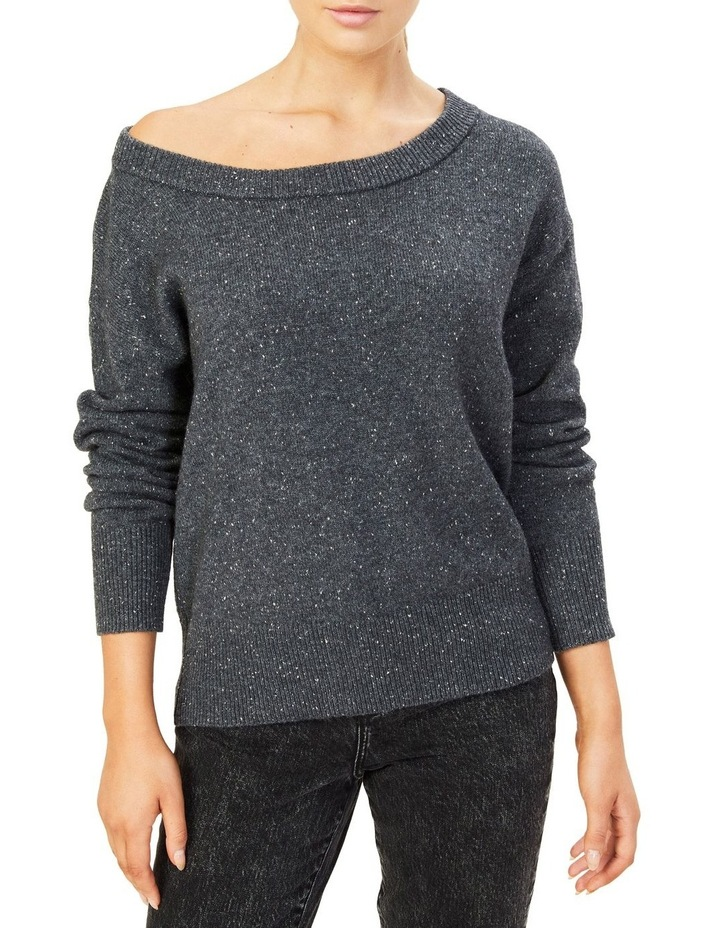 Speckled Off Shoulder Knit image 1