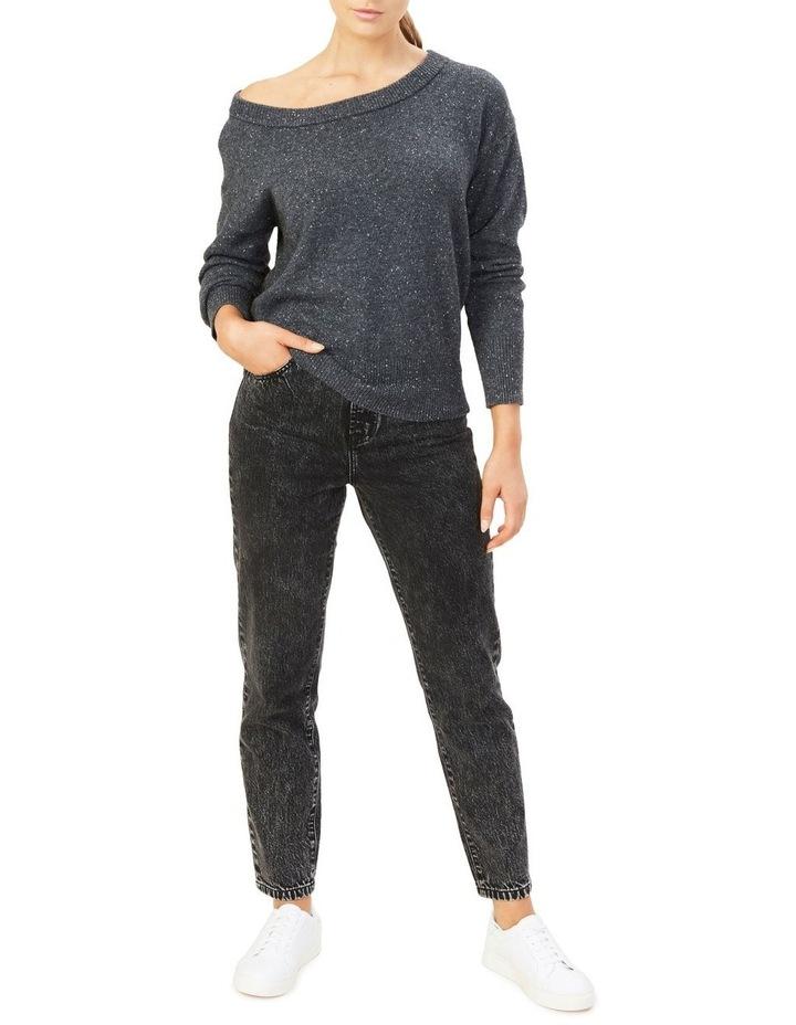Speckled Off Shoulder Knit image 2