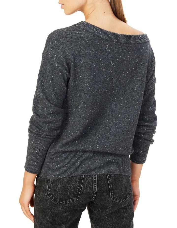 Speckled Off Shoulder Knit image 3