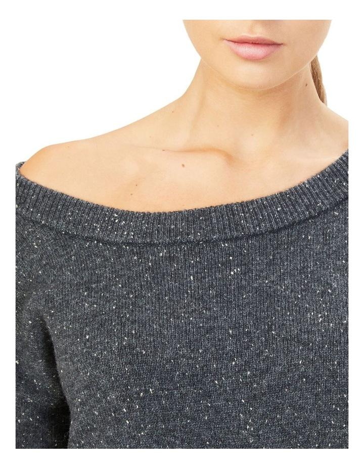 Speckled Off Shoulder Knit image 4