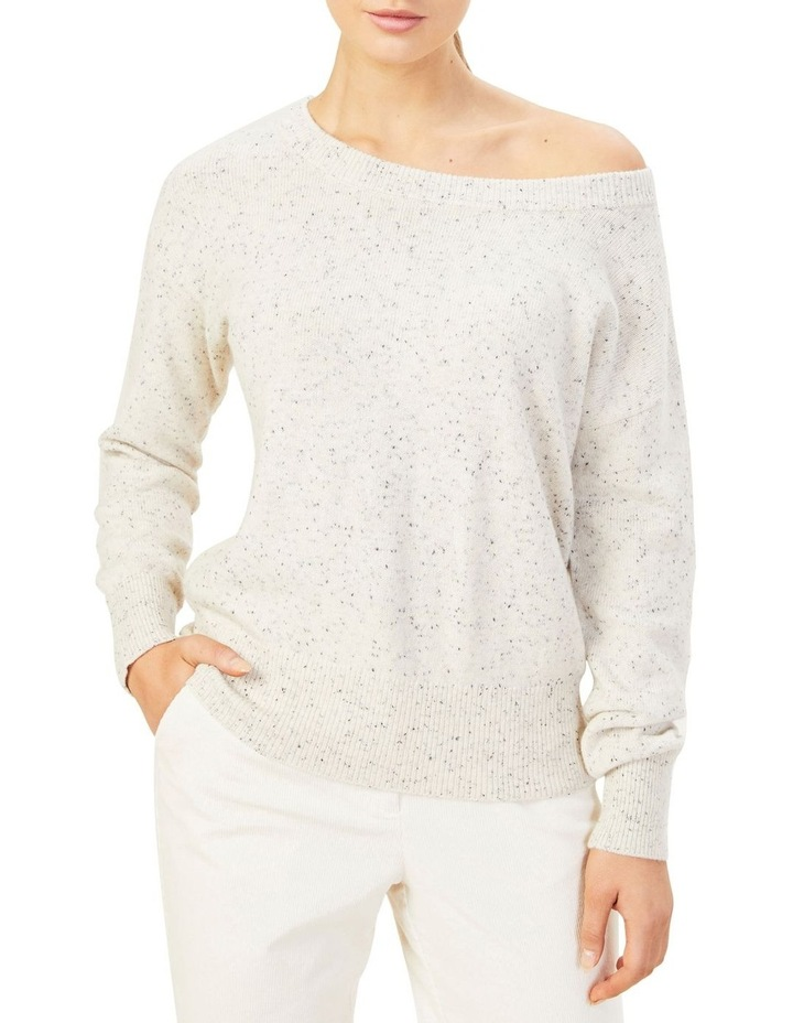 Speckled Off Shoulder Knit image 1