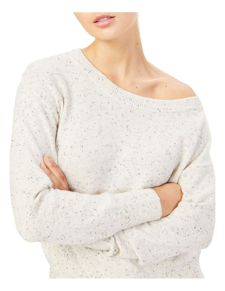 Speckled Off Shoulder Knit image 5