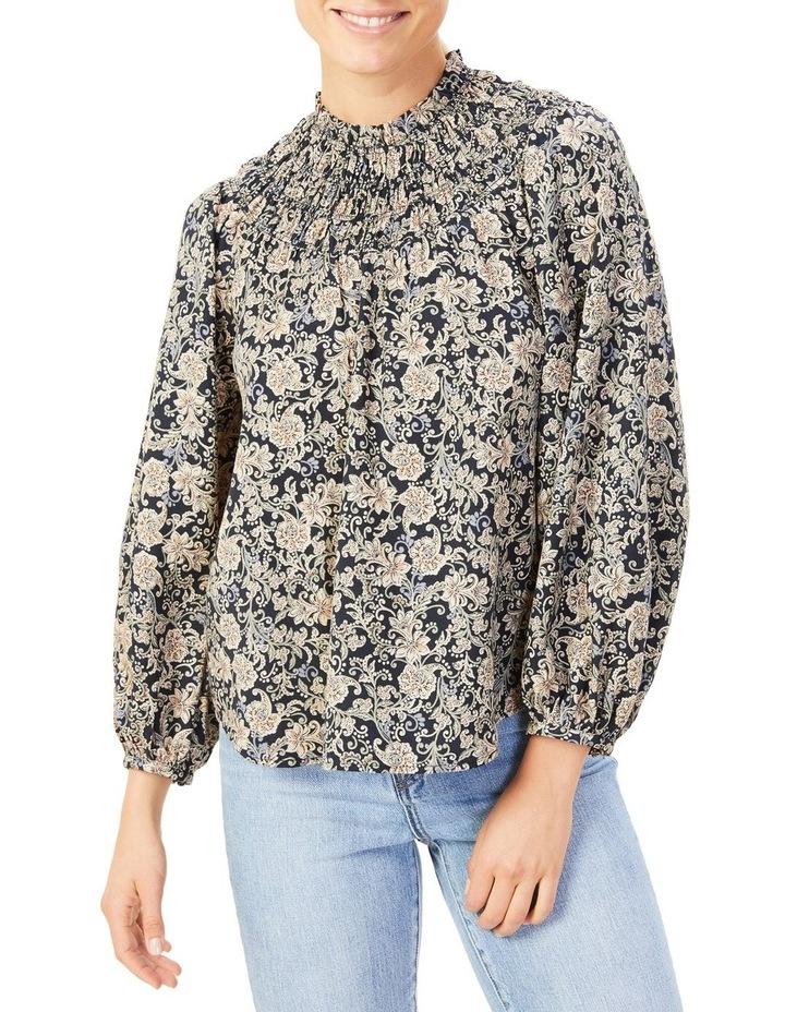 High Neck Shirred Shirt image 1