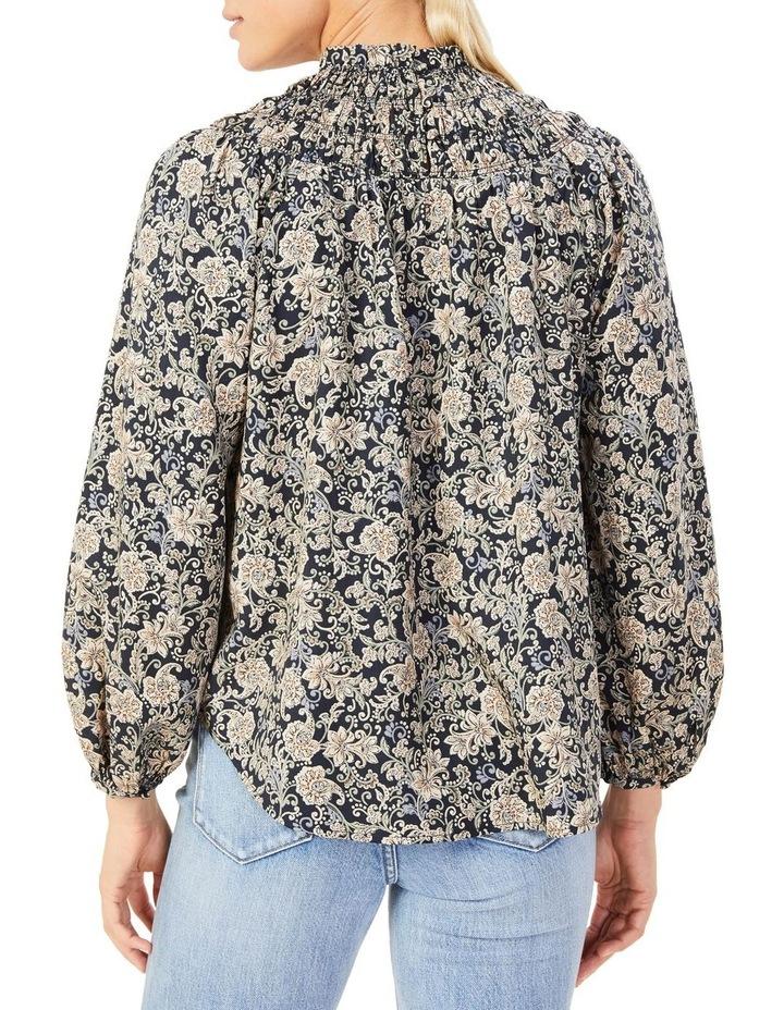 High Neck Shirred Shirt image 3