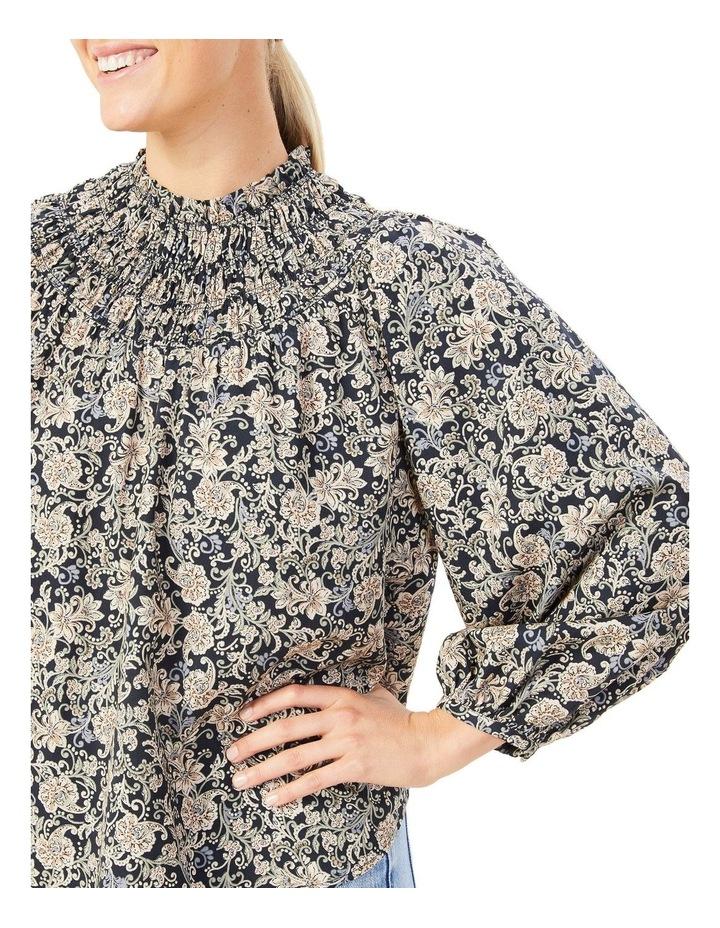 High Neck Shirred Shirt image 4
