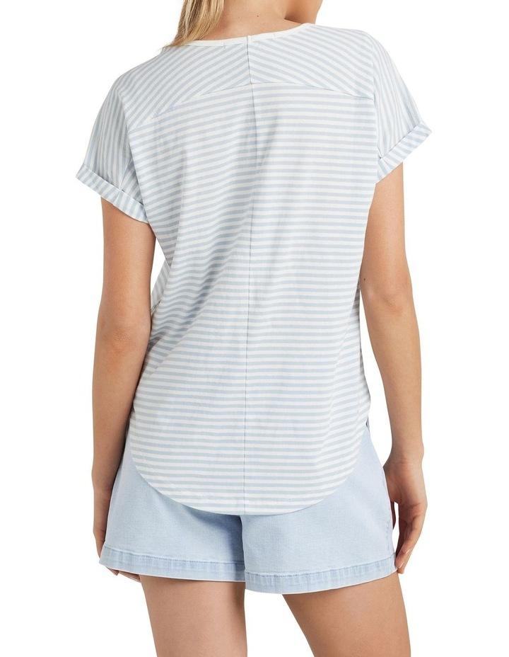 Organic Dipped Hem T Shirt image 3