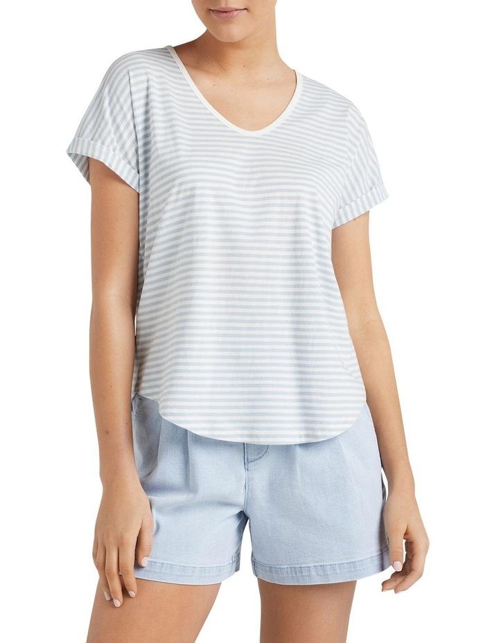 Organic Dipped Hem T Shirt image 5