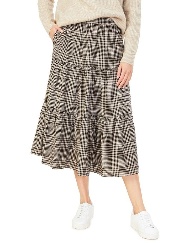Textured Check Skirt image 1