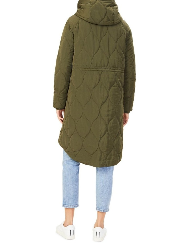 Quilted Longline Jacket image 3