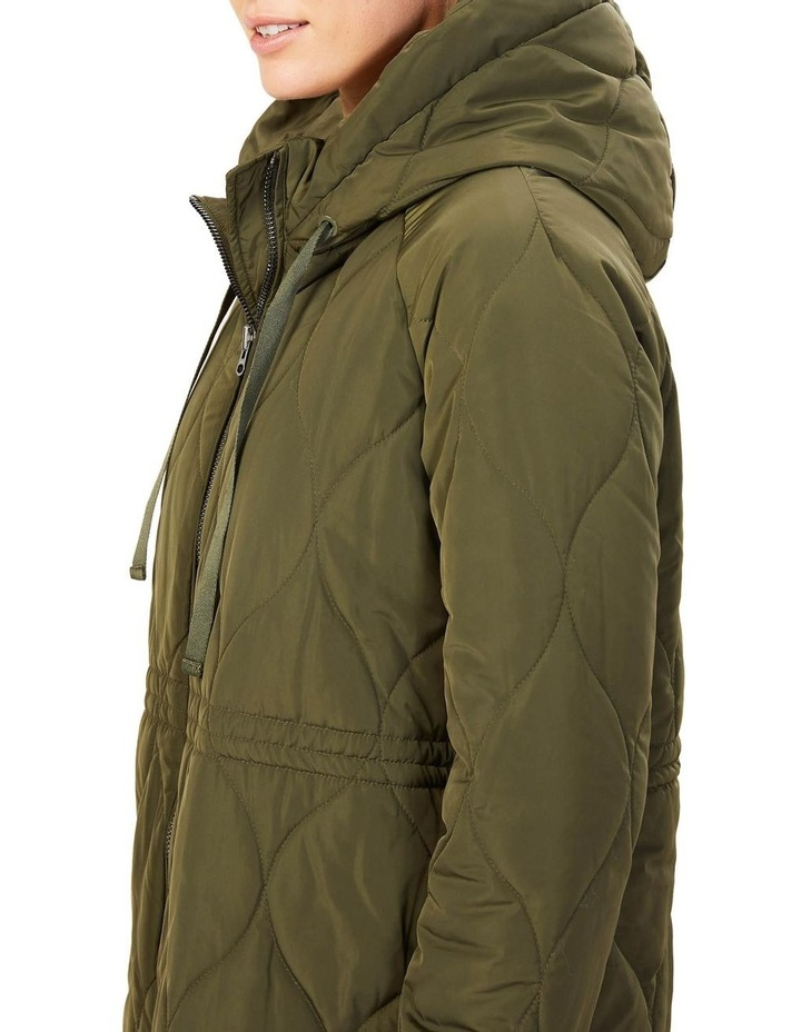 Quilted Longline Jacket image 4