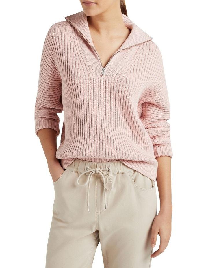Cotton Half Zip Knit image 1