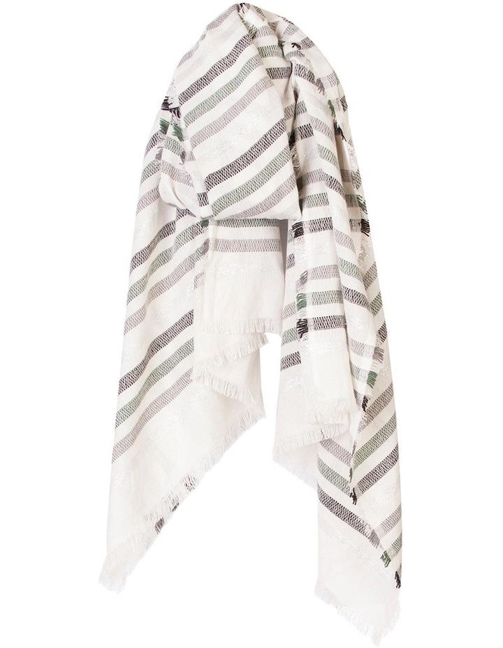 Cotton Lurex Stripe Wrap image 1