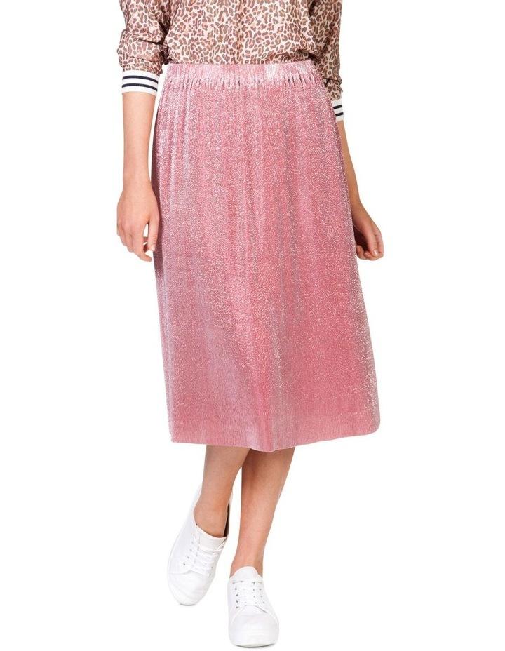 Metallic Pleat Skirt image 1