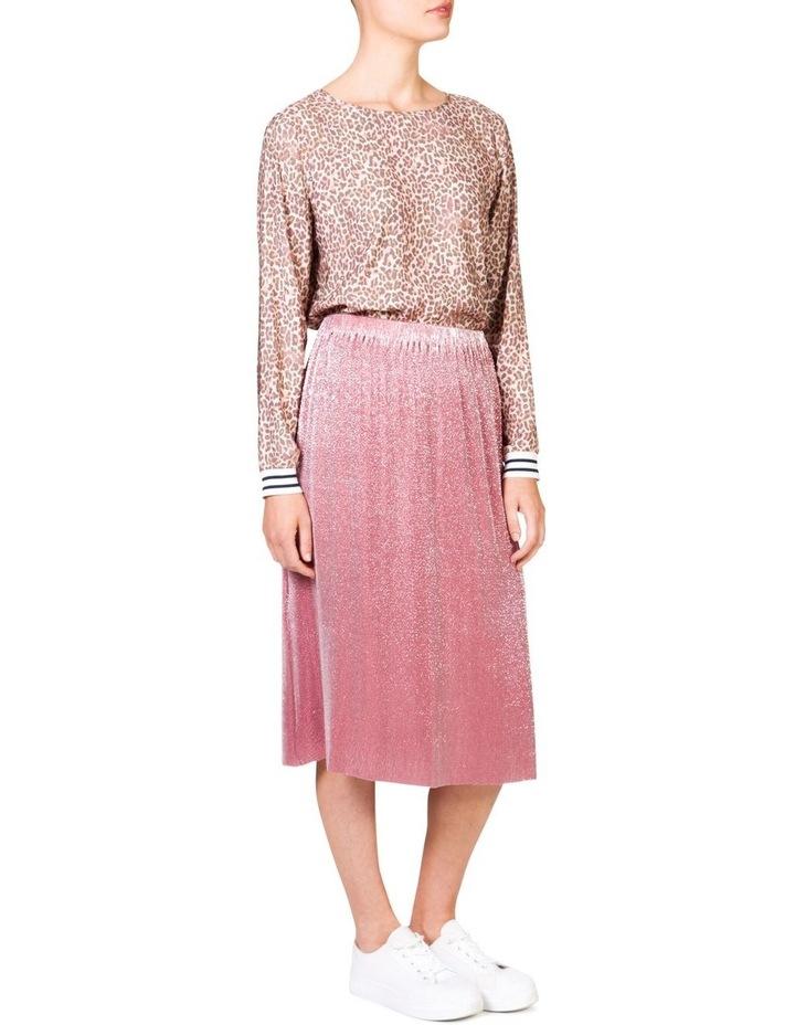 Metallic Pleat Skirt image 3