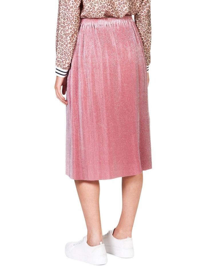 Metallic Pleat Skirt image 4
