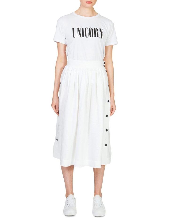 Linen Button Skirt image 1