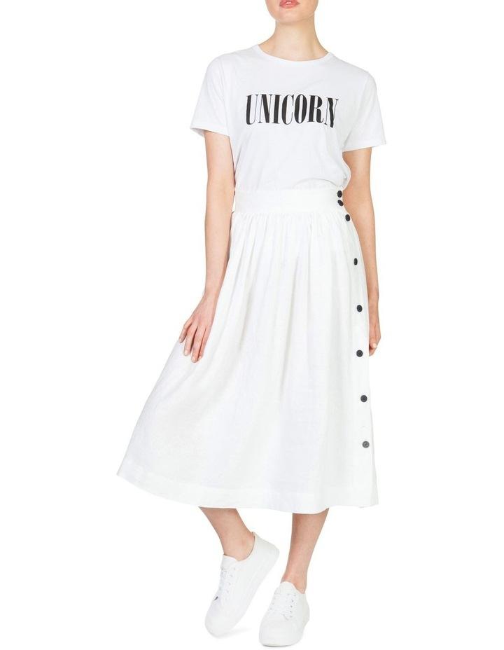 Linen Button Skirt image 2