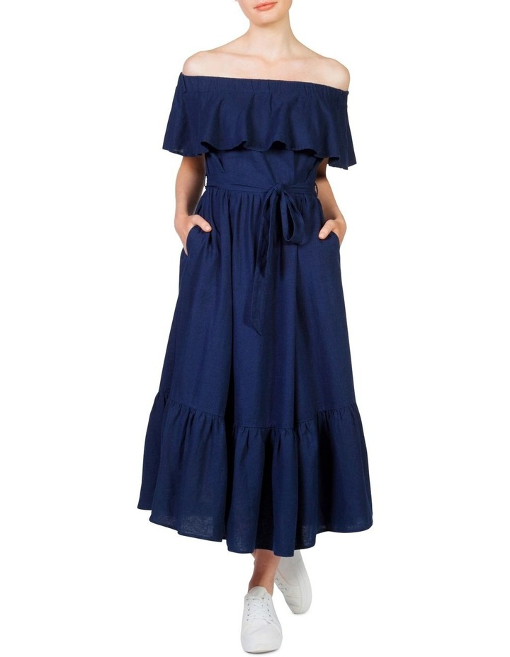 Off the shoulder frill maxi dress image 2