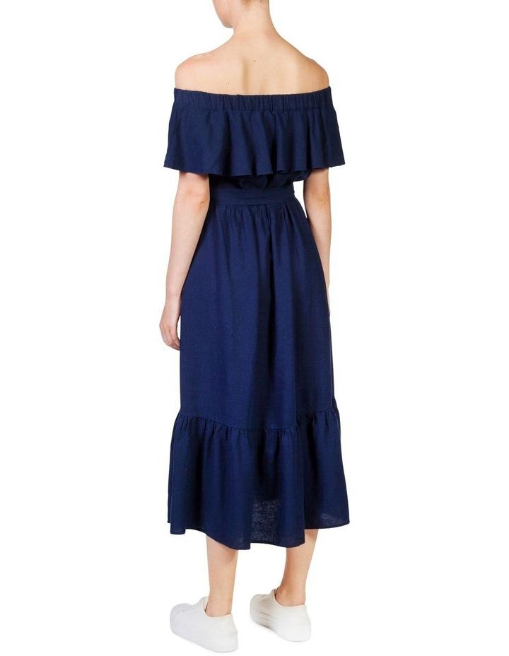 Off the shoulder frill maxi dress image 4