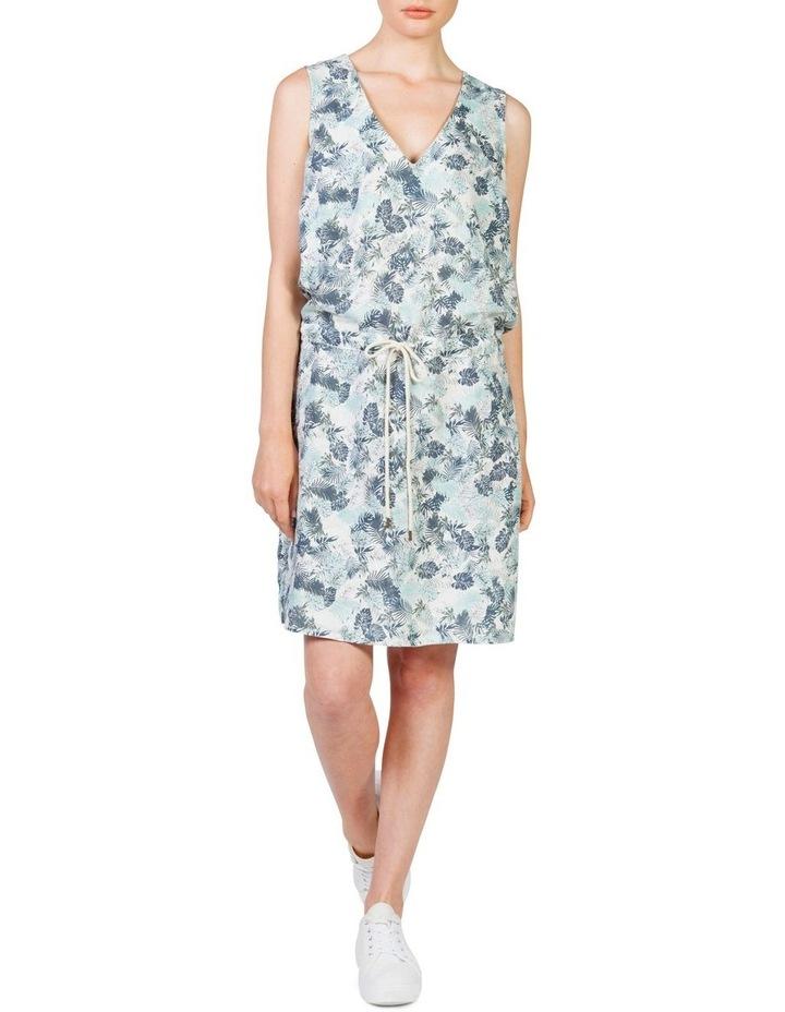 Linen drawstring dress image 1