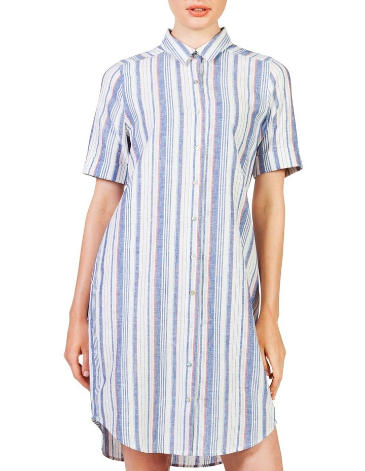Short sleeve shirt dress image 1