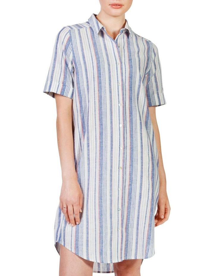 Short sleeve shirt dress image 2