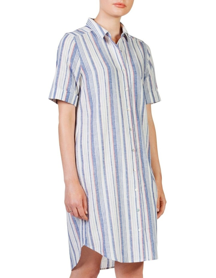 Short sleeve shirt dress image 3