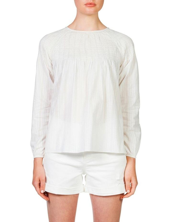 Shirred blouse image 1