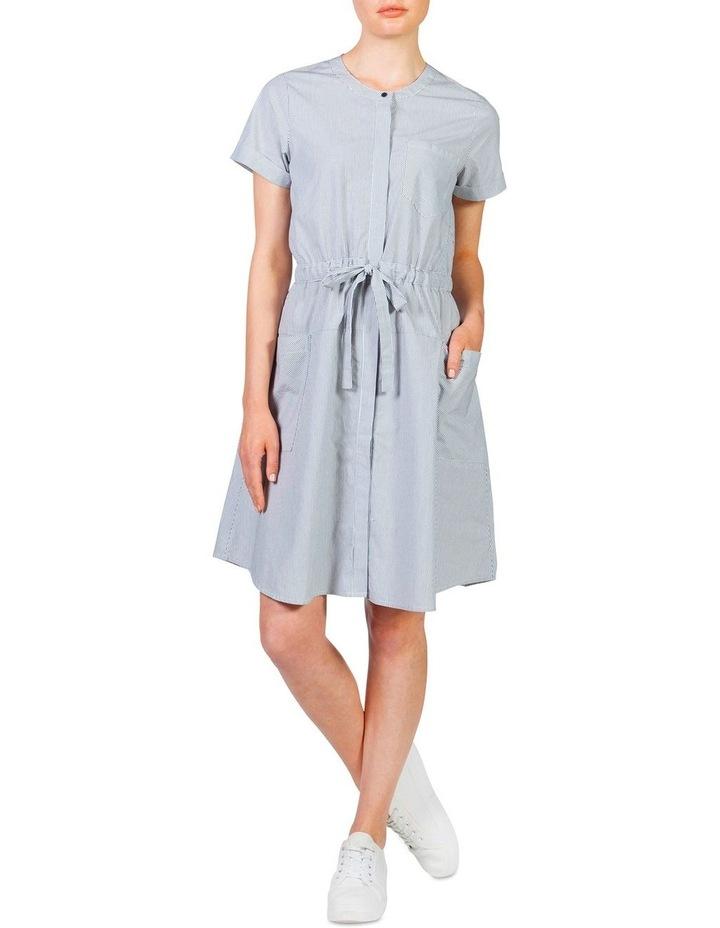 Stripe cotton waisted dress image 1