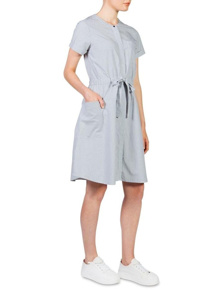 Stripe cotton waisted dress image 2