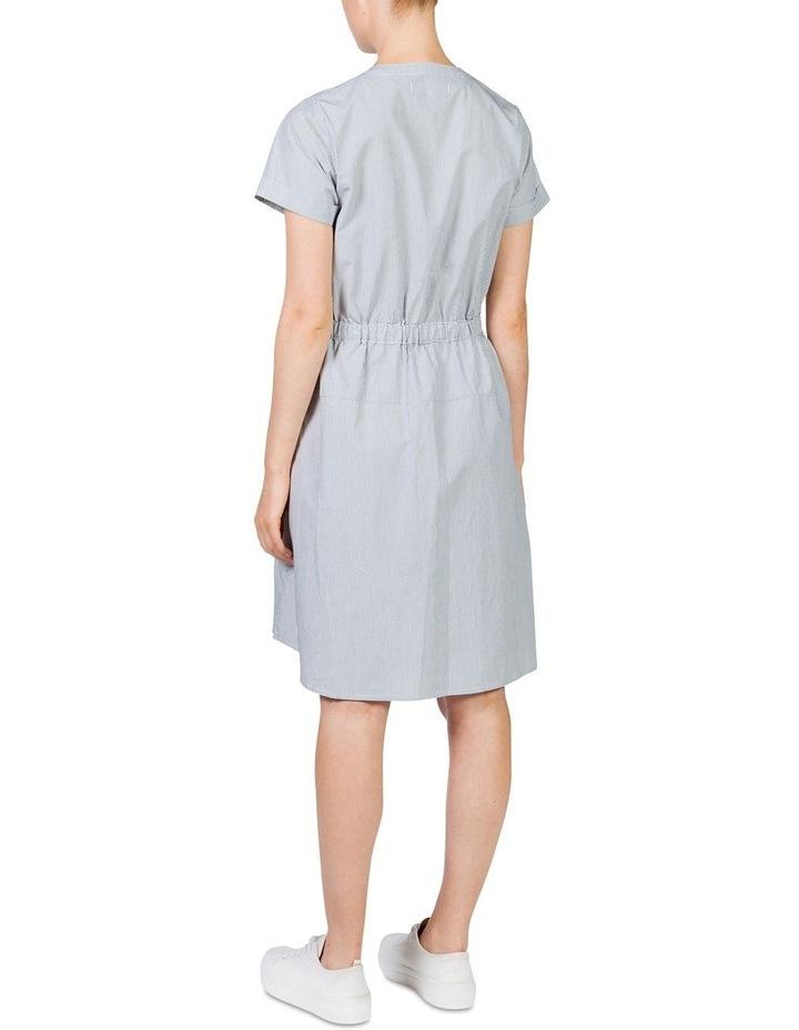 Stripe cotton waisted dress image 3