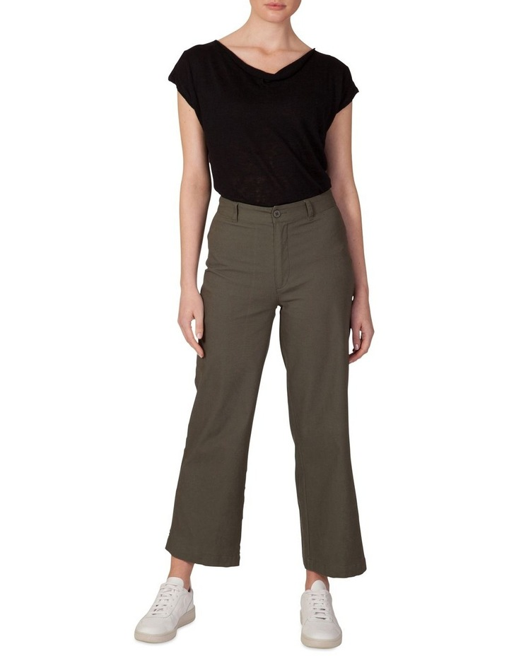 Canvas wide leg pant image 1