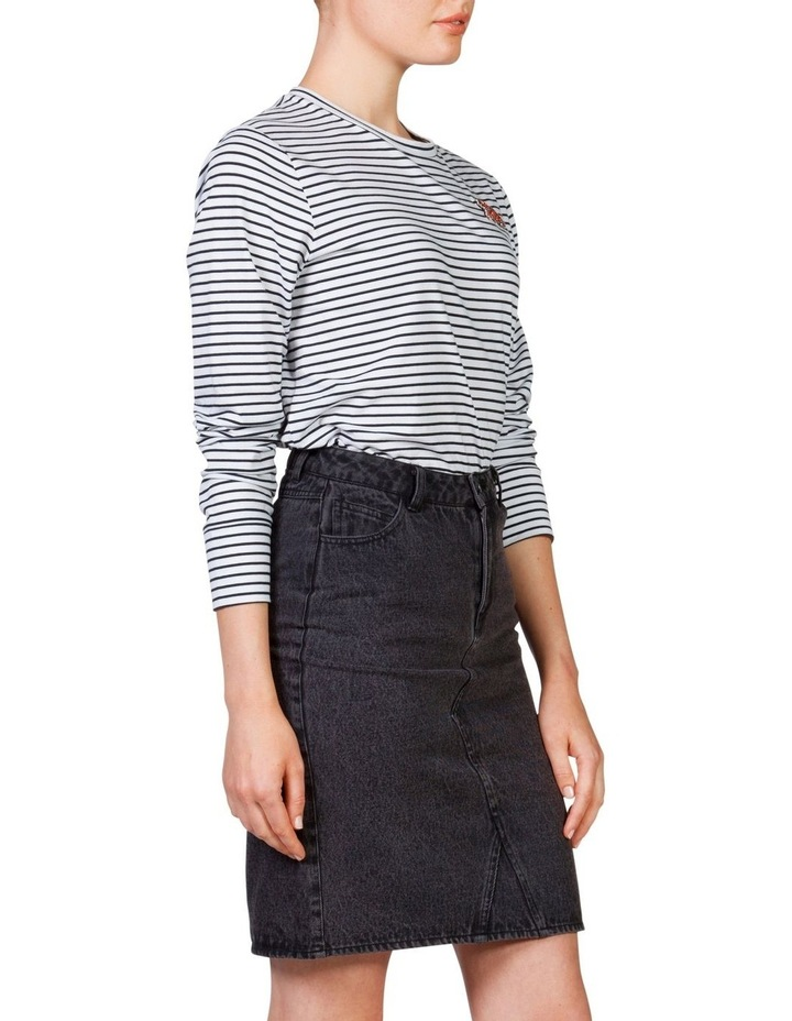 Denim Long Line Skirt image 3