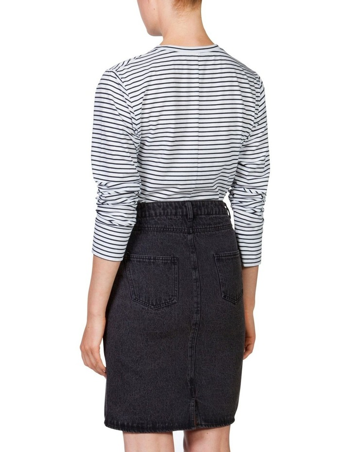 Denim Long Line Skirt image 4