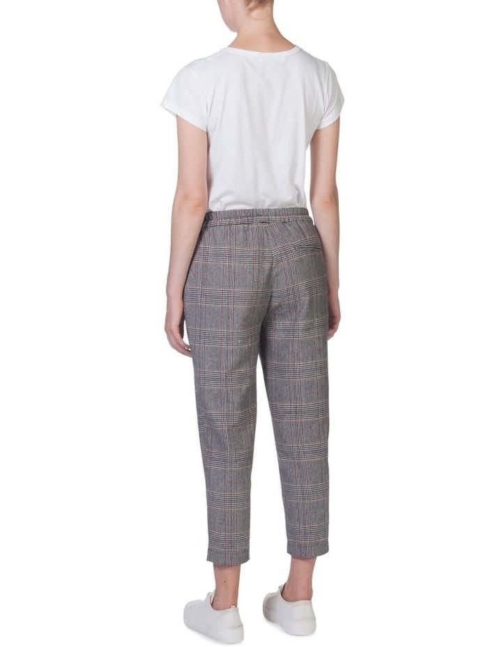 ELASTIC CHECK PANTS image 3