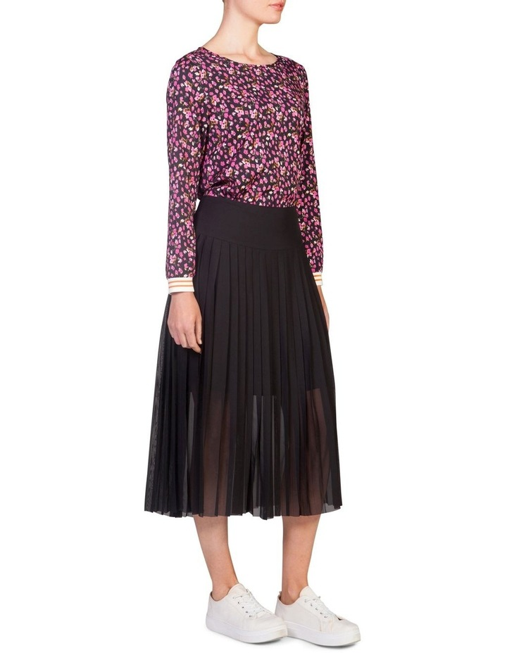Drop-Waist Pleat Skirt image 1