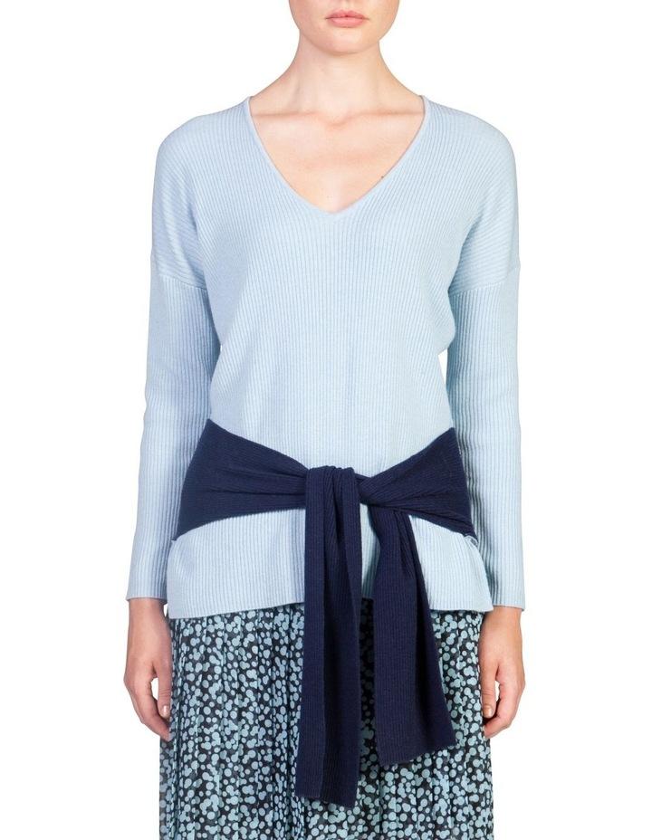Tie Hem Sweater image 1
