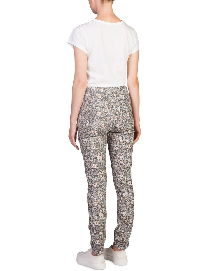 Corduroy Printed High Waisted Pants image 2