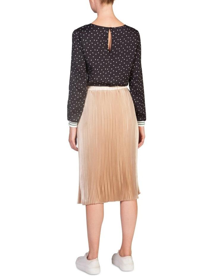 Metallic Pleat Skirt image 2