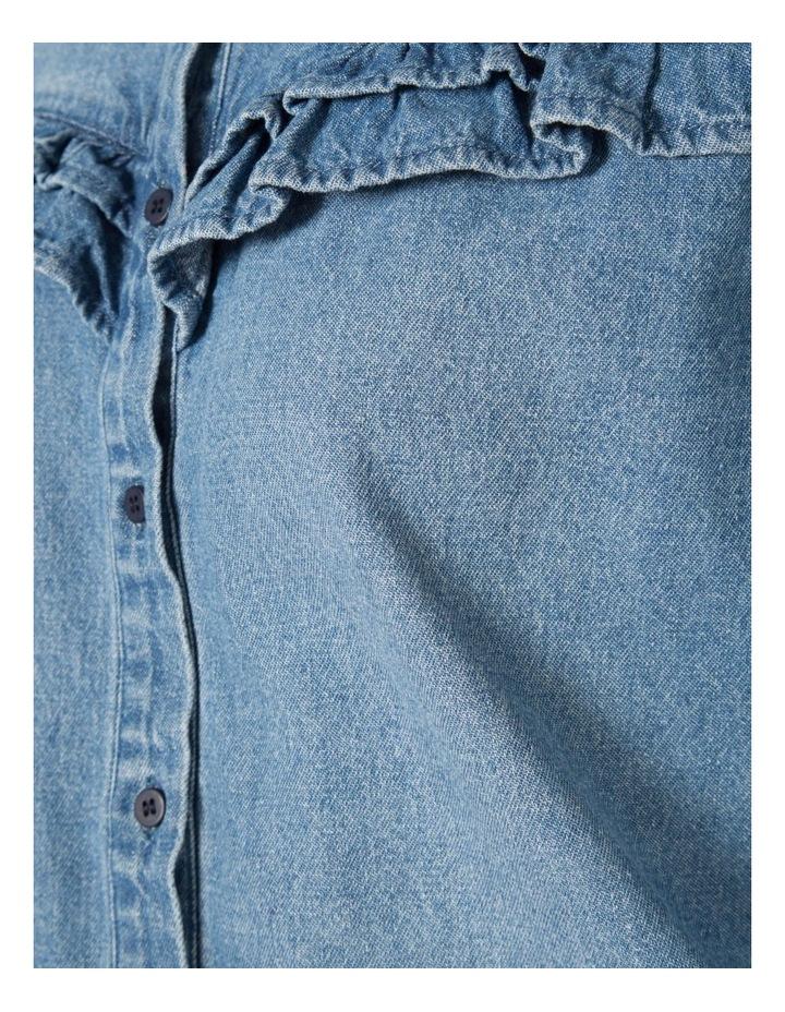 Denim Frill Shirt image 4