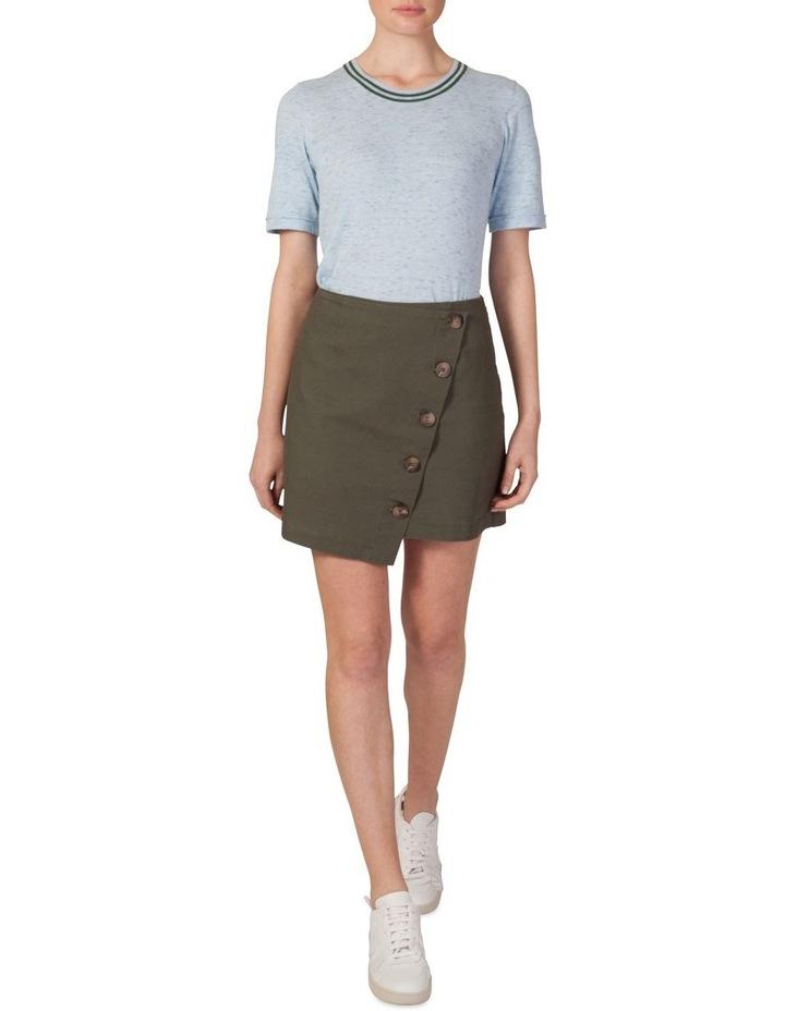 Asymmetrical Button Skirt image 1