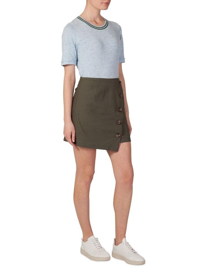 Asymmetrical Button Skirt image 2