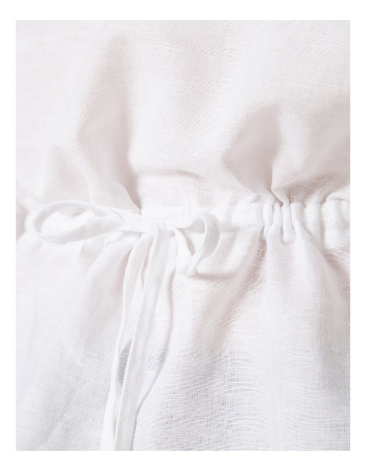 Linen Waisted Tie Top image 4