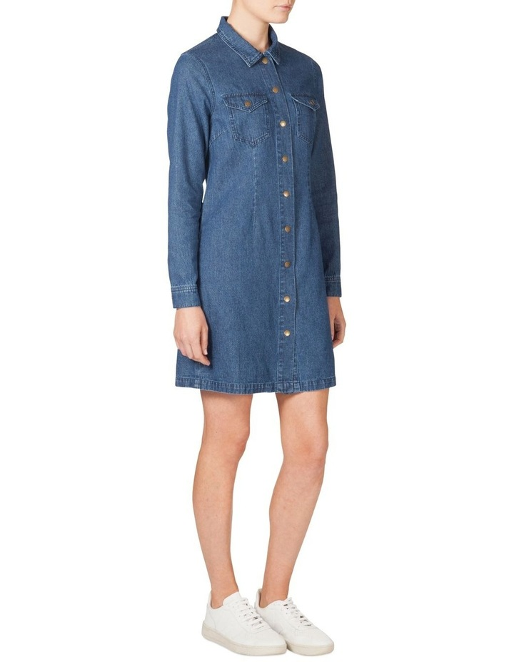 Fitted Denim Dress image 2