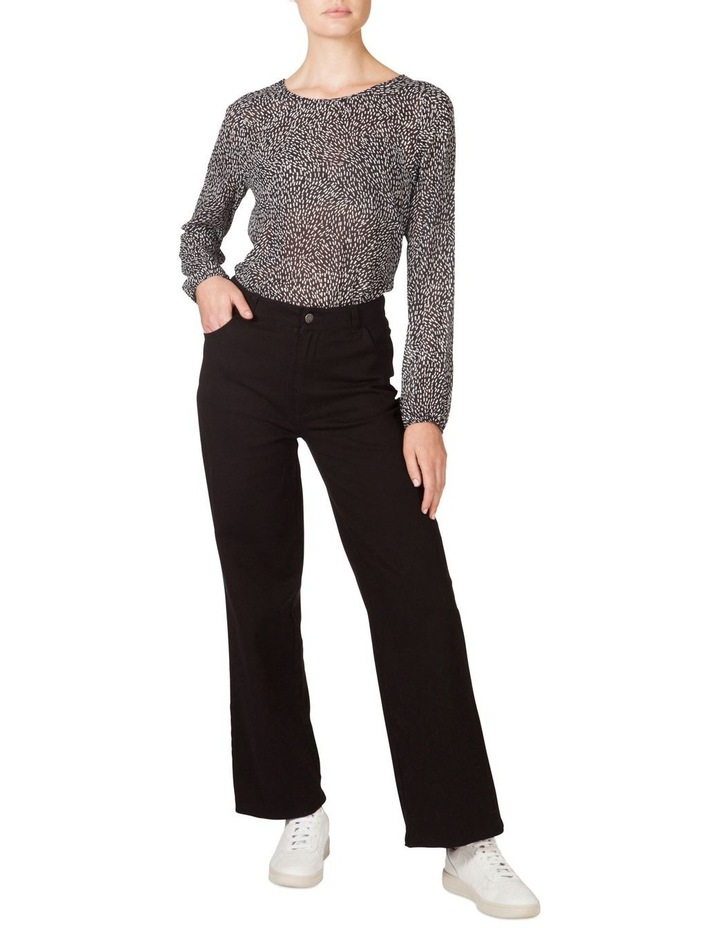 High Waisted Denim Wide Leg Pant image 1
