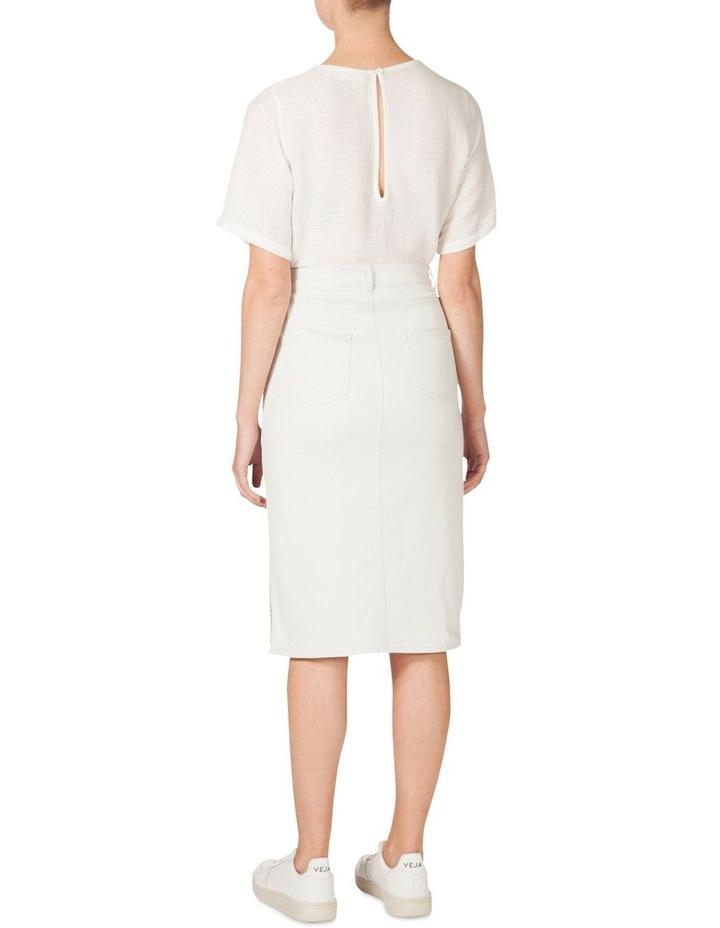 Denim Knee Length Skirt image 3