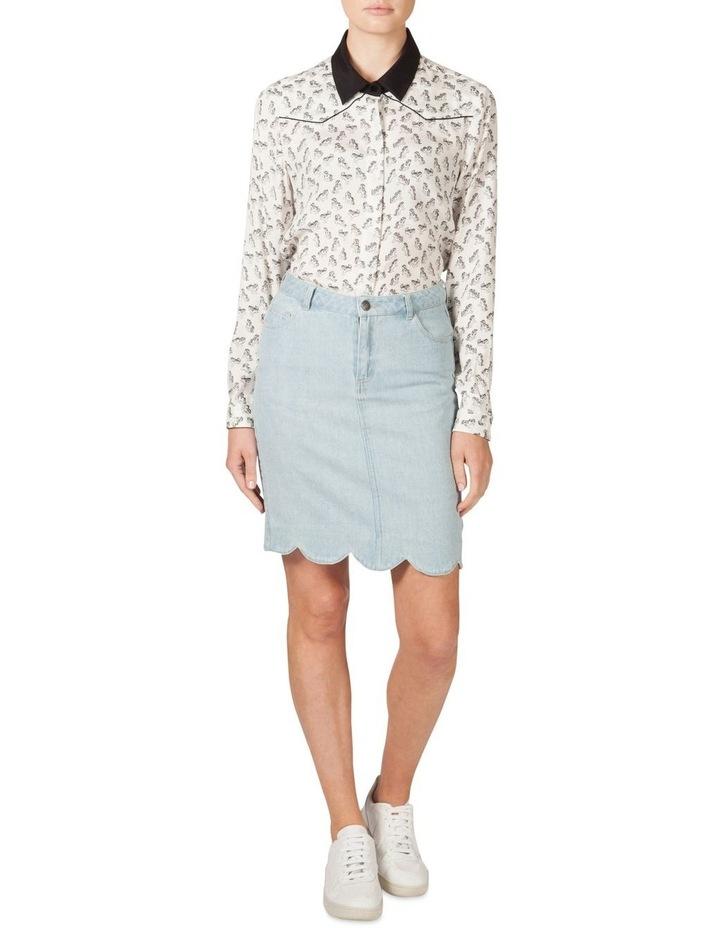 Scallop Hem Denim Skirt (MLP) image 1