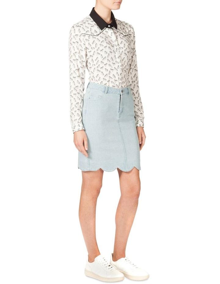 Scallop Hem Denim Skirt (MLP) image 2